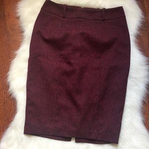 Mossimo burgundy pencil skirt